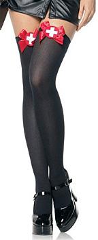 Krankenschwester Kostüm Strümpfe Schwarz