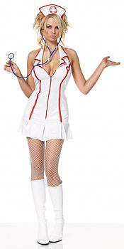 Sexy Krankenschwester Kostüm Minikleid