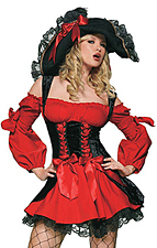 Sexy Piratenkostüm für Damen (Piratin Kostüm)