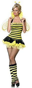 Faschingskostüme - Sexy Flotte Biene Kostüm Damen