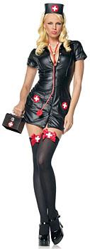 Sexy Krankenschwester Kostüm Schwarz