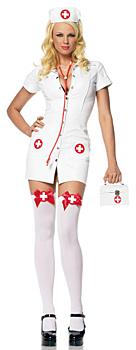 Sexy Krankenschwester Kostüm Weiß