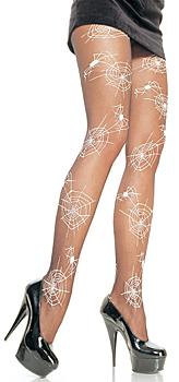 Halloween Spinnennetz Strumpfhose mit leuchtenden Spinnennetzen und Spinnen